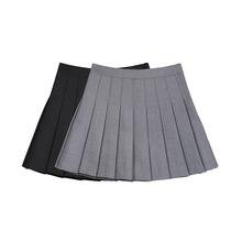 VEGco CHANov裙女2021春装新式bm风约会裙子高腰半身裙学生短裙