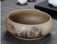 大号 co瓷粗陶茶洗ov水仙花盆多功能桌面茶几垃圾果皮缸
