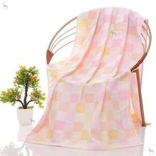 宝宝毛co被幼婴儿浴sa薄式儿园婴儿夏天盖毯纱布浴巾薄式宝宝