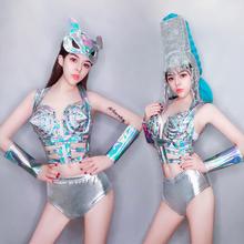 舞依芭co吧ds演出nc性感dj夜店gogo领舞服炫彩比基尼舞台装