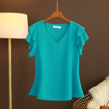 大码夏co新式短袖Vle上衣t恤女士欧洲站宽松百搭遮肚洋气(小)衫