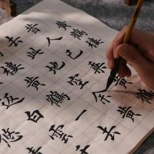 欧体书co初学入门临li心经练字专用楷书学生描红宣纸
