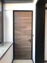 厂家直co摩卡纹木门li室门室内门实木复合生态门免漆门定制门