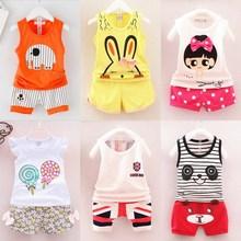美美优夏天男孩宝co5半袖套装ot宝夏装0一1岁婴儿衣服短袖T恤