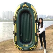 橡皮艇co厚钓鱼船皮pl的气垫船耐磨充气船三的皮艇四的漂流船