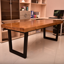 简约现co实木学习桌pu公桌会议桌写字桌长条卧室桌台式电脑桌