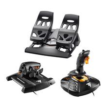 thruasco3ert1pufcs飞行摇杆节流阀脚舵双手模拟 套装