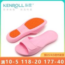 KENcoOLL科柔pu拖鞋糖果色旅行轻便携折叠浴室洗澡凉拖夏游泳