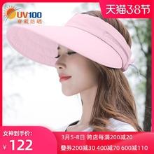 UV1co0沙滩防晒ia夏女士出游太阳遮阳帽防紫外线空顶帽子12049
