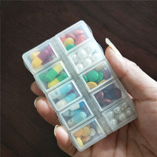 独立盖co品 随身便ia(小)药盒 一件包邮迷你日本分格分装