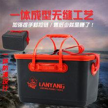 钓鱼桶co体成型evia成型桶钓鱼饵料桶加厚装鱼桶硬壳