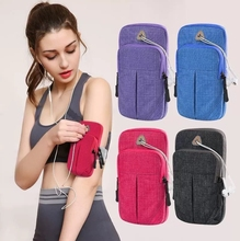 帆布手co套装手机的ex身手腕包女式跑步女式个性手袋