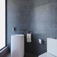 高档轻奢极简设计co5细长条绿ex色马赛克瓷砖洗手台吧台墙砖