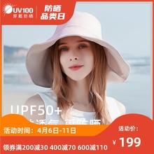 UV1co0防晒帽女en防紫外线太阳帽渔夫帽遮阳帽可折叠帽子71328