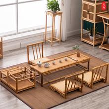 简约日co榻榻米桌子st窗(小)茶几禅意矮炕桌阳台创意实木茶桌椅
