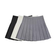VEGco CHANst褶裙女2021夏新式风约会裙子高腰半身裙