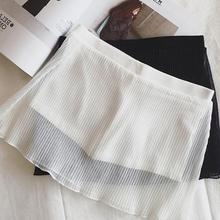 高腰网纱裤裙女夏季短裤学