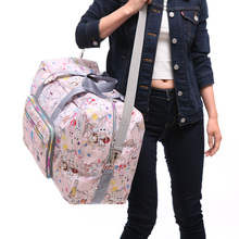 大容量co叠旅行袋女on便防水旅游收纳行李包手提单肩包待产包