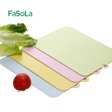 日本FcoSoLa创ta切水果板宝宝辅食刀板砧板塑料抗菌案板