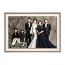 婚纱照co框16 2af4寸结婚照放大照片定制挂墙全家福大尺寸免打孔