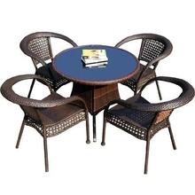阳台藤co三件套(小)桌on椅露台一桌四椅茶几单的现代花园椅