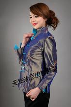 品牌米尼也唐装女co5上衣中老on良汉服女士真丝秋季长袖促销