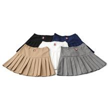 春夏学co基本式高腰ar料裙裤A字百褶短裙修身显瘦百搭半身裙