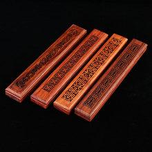 越南花co木香盒家用nt质禅意檀香卧香炉红木熏香盒沉香线香炉