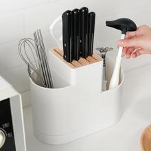 日本厨co多功能刀架nt具筷子勺子置物架家用刀具菜刀收纳架子