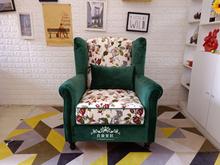 沙发家co布艺沙发欧al洗单的双三客厅卧室(小)户型办公椅整装
