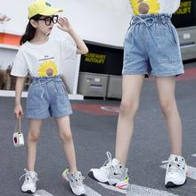女童牛co短裤夏季5al洋气7童装8中大童9韩款10岁薄式4女孩裤子