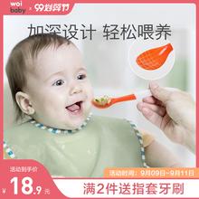 新生婴cp勺子宝宝硅d8学吃饭训练喂水辅食勺家用宝宝餐具套装