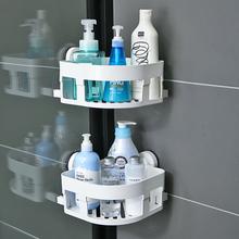 韩国吸cq浴室置物架ld置物架卫浴收纳架壁挂吸壁式厕所三角架