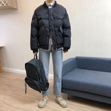 LEScqT林弯弯冬xw棉衣棒球领短式外套加厚宽松棉服面包服男女