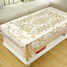 茶几桌cq防水防烫防xw长方形餐桌垫PVC现代欧式台布塑料布艺
