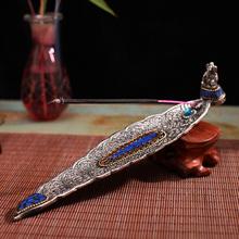 RAJ印度进口手工藏银香盘cr10多选香ft 线香塔香炉香道用具