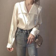 彬gecr表姐设计感ft色衬衫韩款宽松衬衣2020年上秋装新式女装