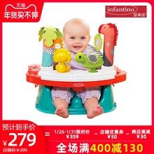 infcrntinoft蒂诺游戏桌(小)食桌安全椅多用途丛林游戏
