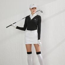 BG新cr高尔夫女装ft衣服装女上衣短裙女套装修身透气防晒运动