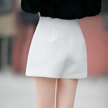 高腰短cr女2020ft新式韩款外穿ins显瘦阔腿裤a字短裤女大码