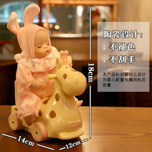陶瓷木cr摇头娃娃音zz音盒创意圣诞节送女友宝宝闺蜜生日礼物