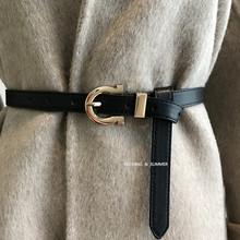 韩国秋cr天腰带女士og衣毛衣连衣裙腰封衬衫时尚收腰显瘦皮带