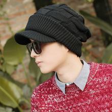帽子男cr冬保暖韩款at冬天冬季骑车针织帽男士新式时尚毛线帽