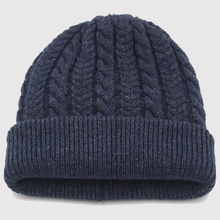 男士冬cr毛线混纺加at帽中老年帽子套头护耳针织保暖帽老的帽