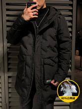 轩尧耐克泰羽cr3服男冬季ck流行新款韩款潮流加厚男款冬装中长款