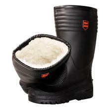冬季加cr保暖雨鞋加pl雨靴男女式中筒水鞋韩款时尚大码防水靴