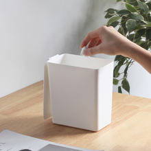 桌面垃cr桶带盖家用nc公室卧室迷你卫生间垃圾筒(小)纸篓收纳桶