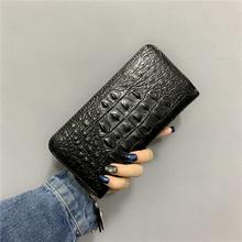 长款钱包cr12020nc款个性青年鳄鱼纹钱夹男士商务拉链手拿包