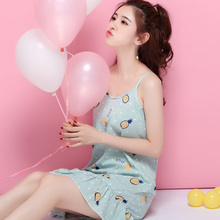 吊带睡cs女夏季纯棉ww性感睡衣可爱甜美少女夏天学生睡裙女装