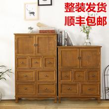 美式新式七斗ct3抽屉式收td阳台置客厅装饰柜复古柜子储物柜